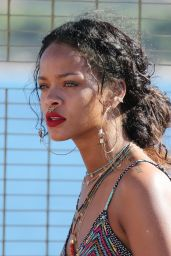 Rihanna Holidaying Around the Med Calvi in Corsica - September 2014