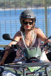 Rihanna Holidaying Around the Med Calvi in Corsica - September 2014
