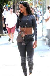 Rihanna in Leggings Out in New York City - September 2014