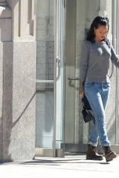 Rihanna in Ripped Jeans - Out in Soho, New York City, September 2014