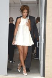 Rihanna Leaving Adam Selman Fashion Show in New York City - September 2014