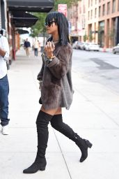 Rihanna Showcased an Edgy New Haircut - Heading to a Recording Studio in Chelsea - Sept. 2014