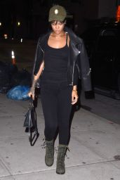 Rihanna Street Style - Stopping by a Recording Studio in NYC - September 2014