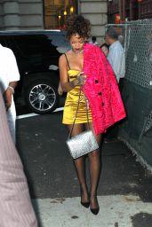 Rihanna Style - Arriving at Nobu Restaurant in Tribeca - September 2014