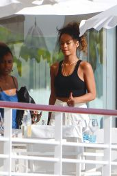 Rihanna Vacationing in Saint Tropez - September 2014