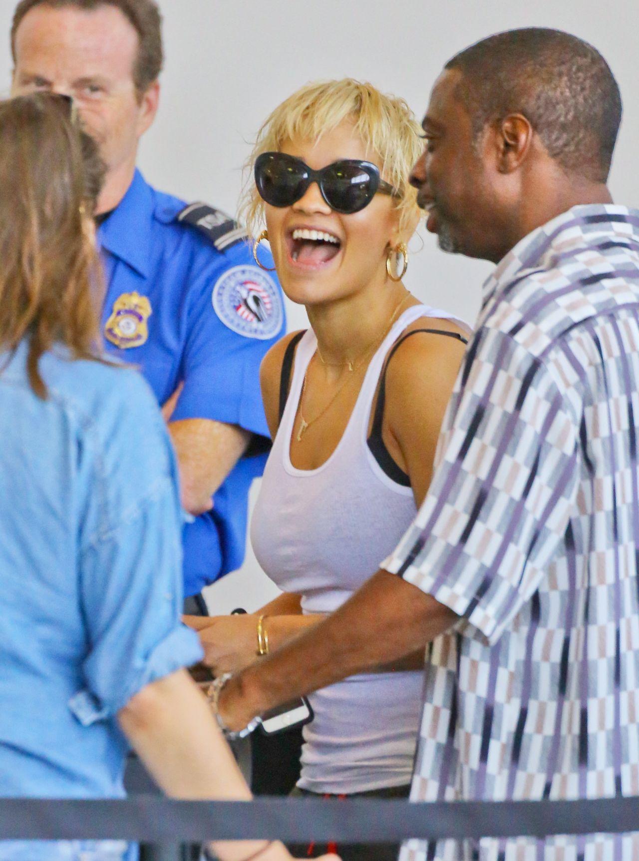 Rita Ora at LAX Airport - September 2014