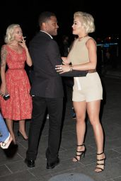 Rita Ora Gets Leggy in Shorts - Leaving a Calvin Klein Event in New York - Sep 2014