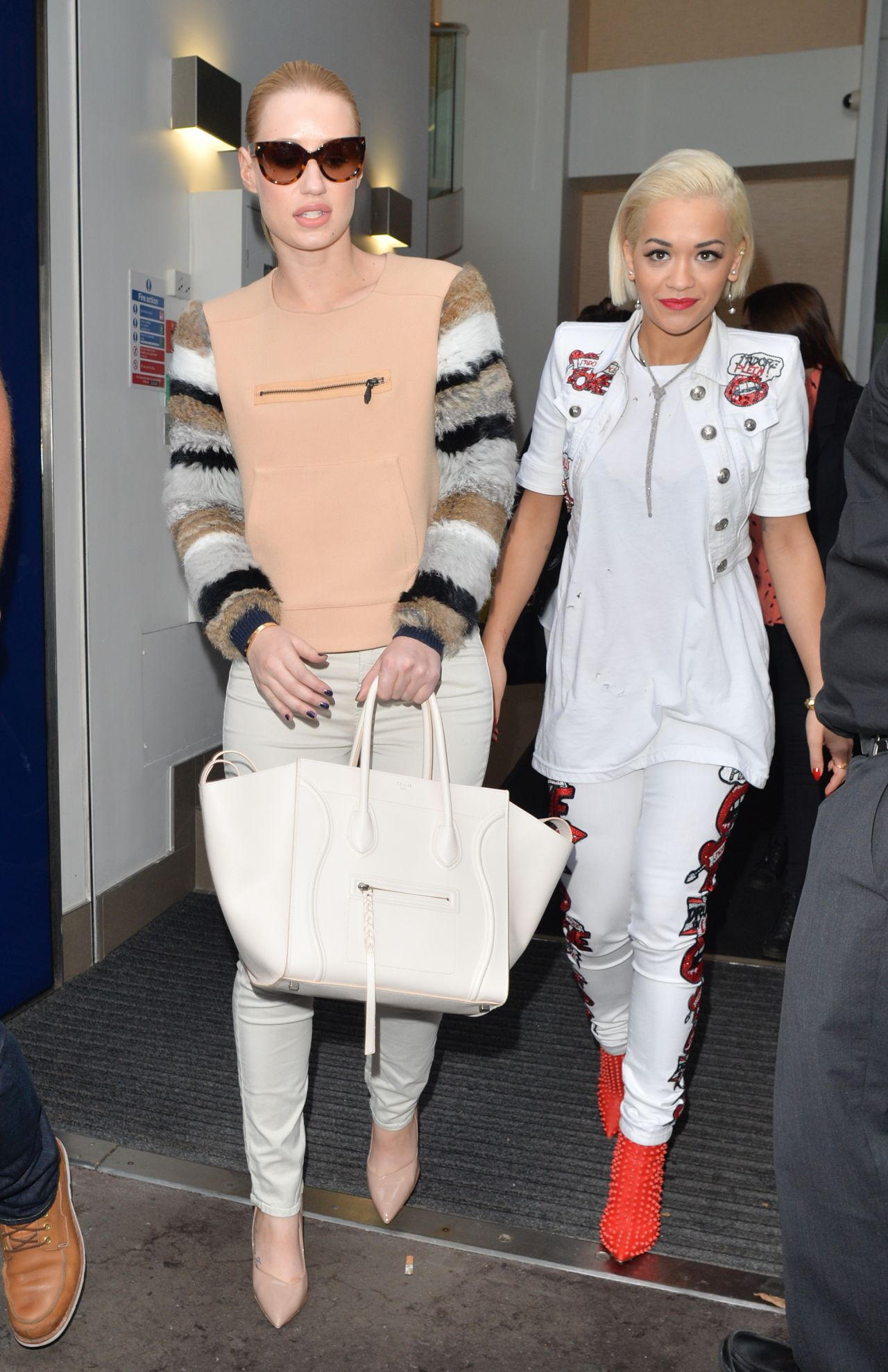 Rita Ora & Iggy Azalea Visited Capital FM in London - September 2014
