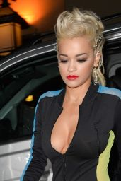 Rita Ora in a Jumpsuit Out in London - September 2014