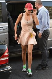 Rita Ora in Adidas Stella McCartney Tennis Dress Shopping in London - September 2014