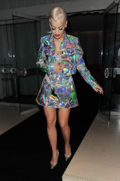 Rita Ora Night Oust Style - Arriving at The Box Night Club in London, September 2014