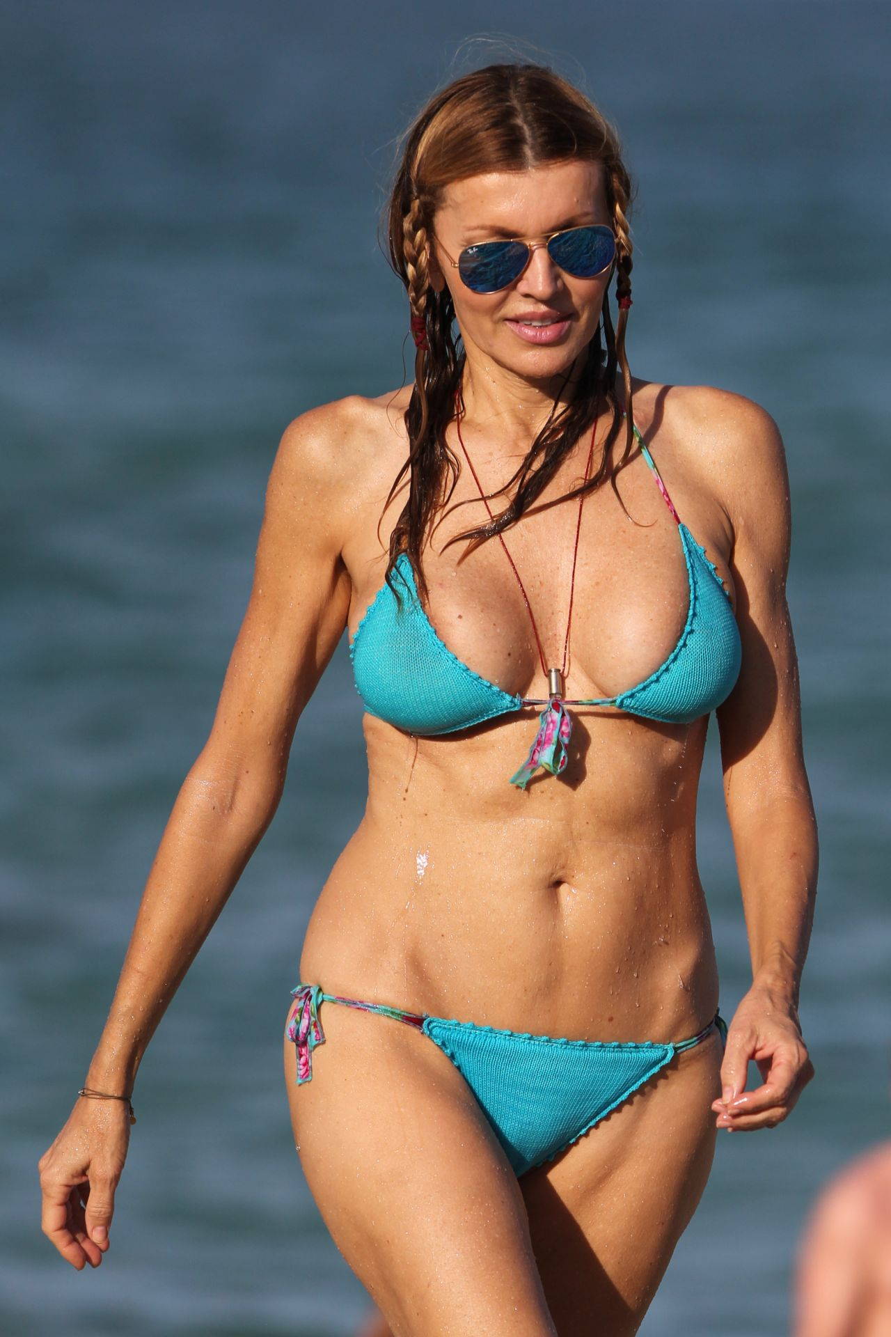 Rita Rusic Bikini Candids - Beach in Miami - September 2014