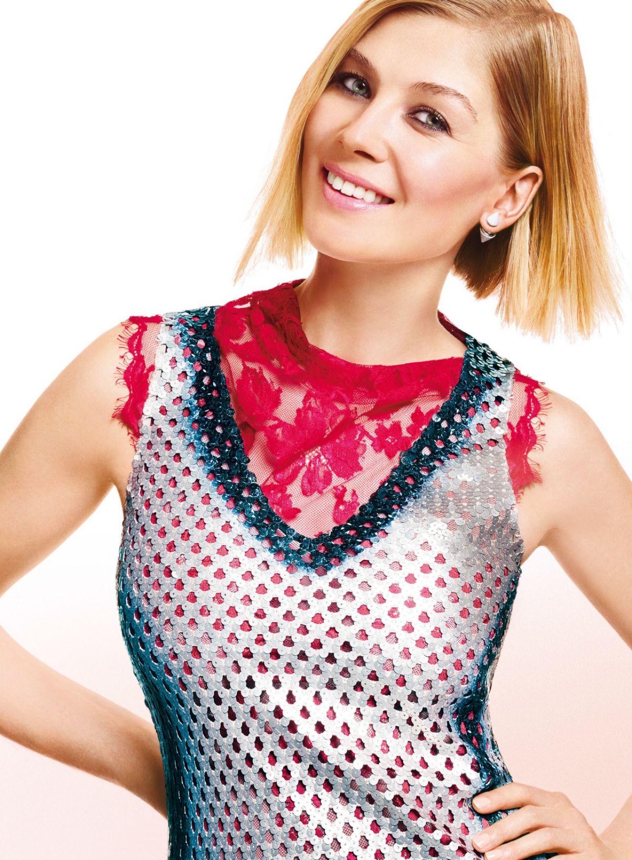 rosamund pike photoshoot for glamour magazine october 2014