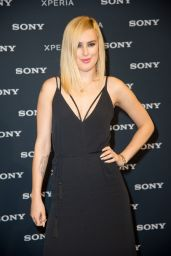 Rumer Willis in Black Dress - Sony Mobile Smartphone Launch Event in Berlin - Sept. 2014