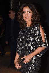Salma Hayek & Lenny Kravitz - Paris Fashion Week - Saint Laurent Show, Sept. 2014