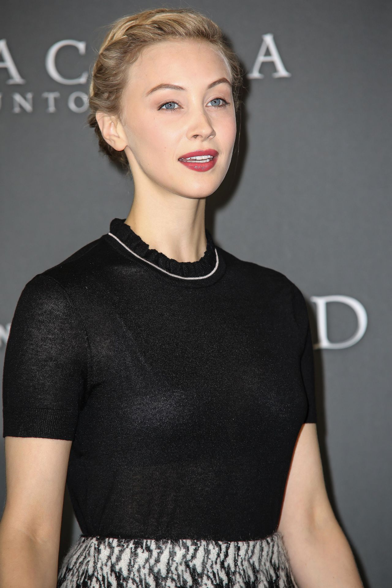 Sarah Gadon Gets Glam On Fashion Magazine Cover: 'Dracula Untold' Movie Photocall In London