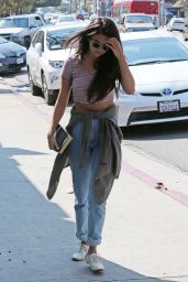 Selena Gomez Street Style - at a Studio in Los Angeles, September 2014
