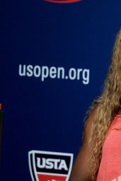 Serena Williams Talks to the Media During Previews for 2014 U.S. Open Tennis Tournament