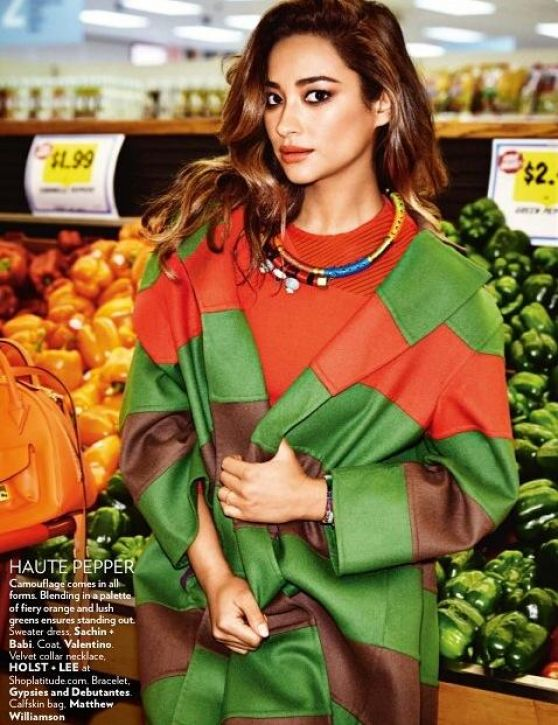 Shay Mitchell - Vogue Magazine (India) September 2014 Issue