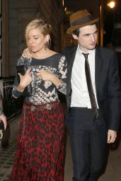 Sienna Miller - Leaving Another Magazine Party at Lou Lou