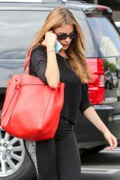 Sofia Vergara Booty in Tights at a Gym in Los Angeles - September 2014