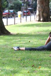 Sophie Anderton in Spandex - Battersea Park Workout London, August 2014