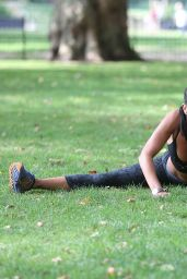 Sophie Anderton in Spandex - Battersea Park Workout London, August 2014