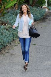 Stacy Keibler in Jeans - Leaving Her House in Los Angeles - September 2014