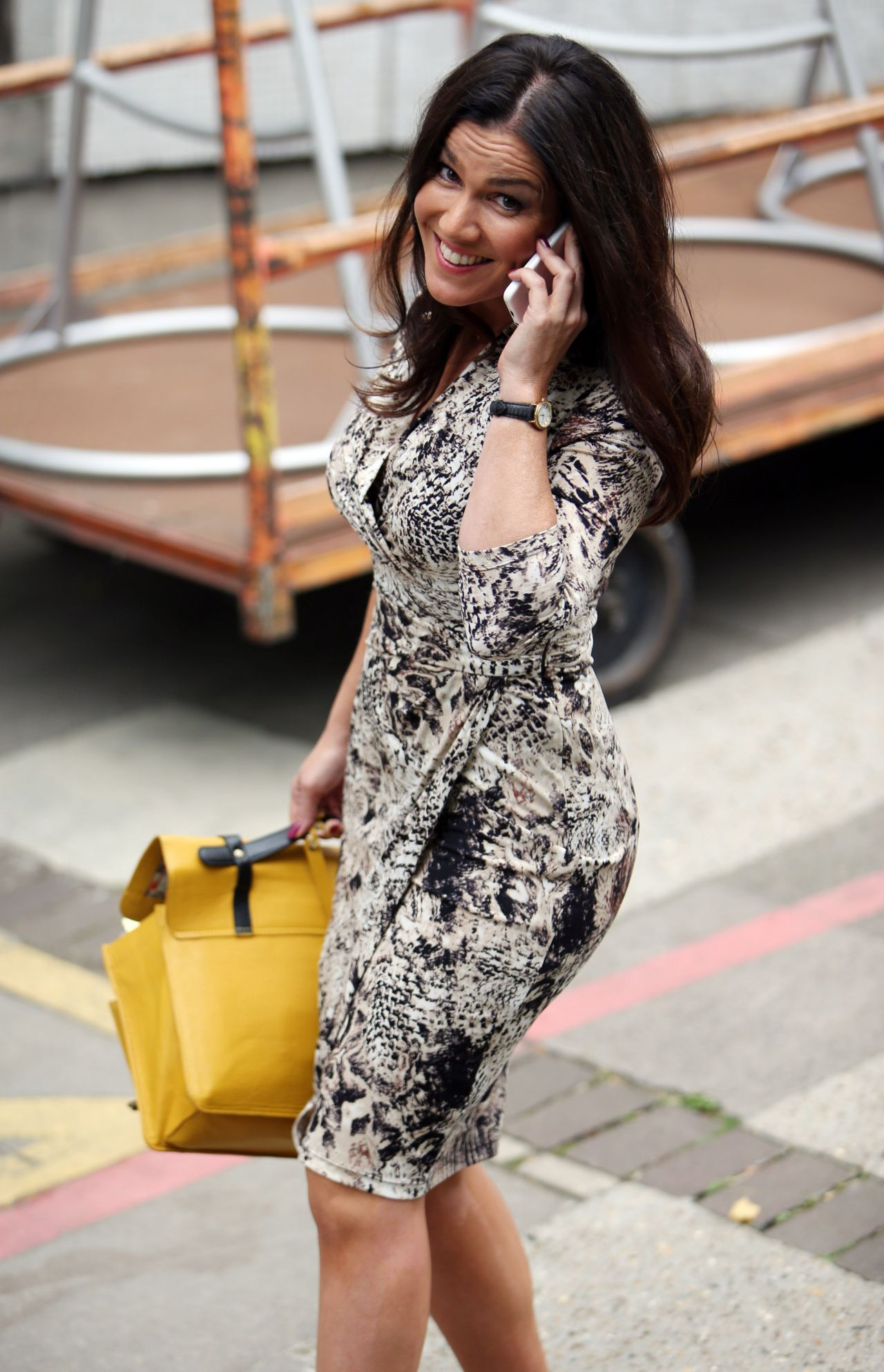Susanna Reid - Leaving the London Studios - September 2014