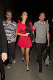 Tulisa Contostavlos Night Out Style - Out in London - September 2014