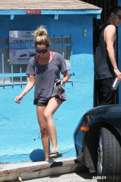 Vanessa Hudgens & Ashley Tisdale - Leaving WundaBar Pilates in Studio City - Aug. 2014