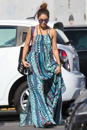 Vanessa Hudgens in Summer Dress - at Urban Outfitters in Studio City - September 2014