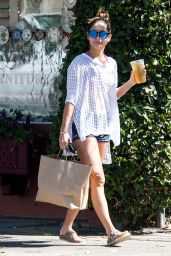Vanessa Hudgens Shows Off Legs - outside of a Furniture Store in Studio City - September 2014