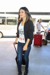 Victoria Justice Arriving at LAX Airport, September 2014