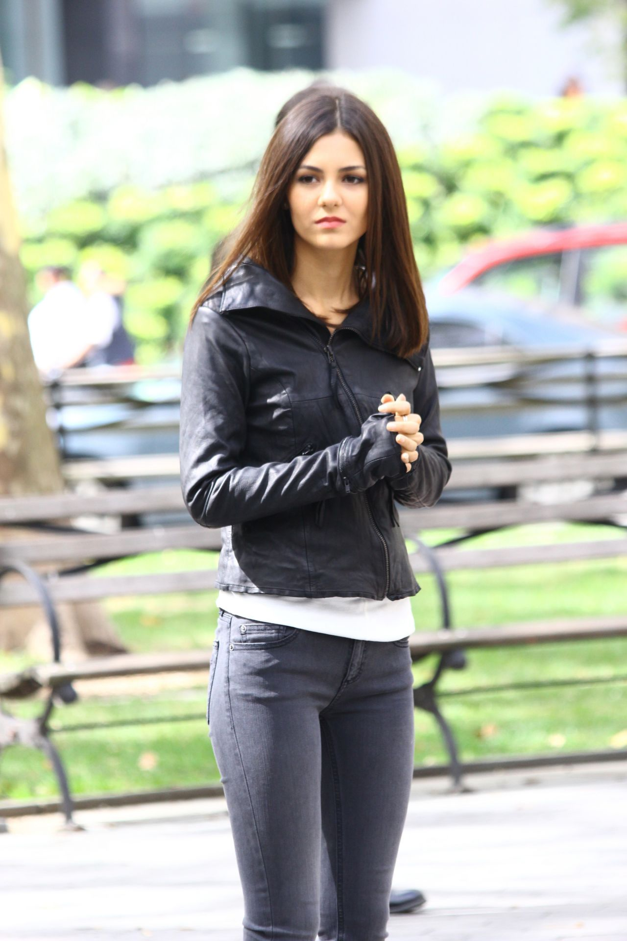 Eye Candy Nails Training: Victoria Justice On Set Of 'Eye Candy' In New York City