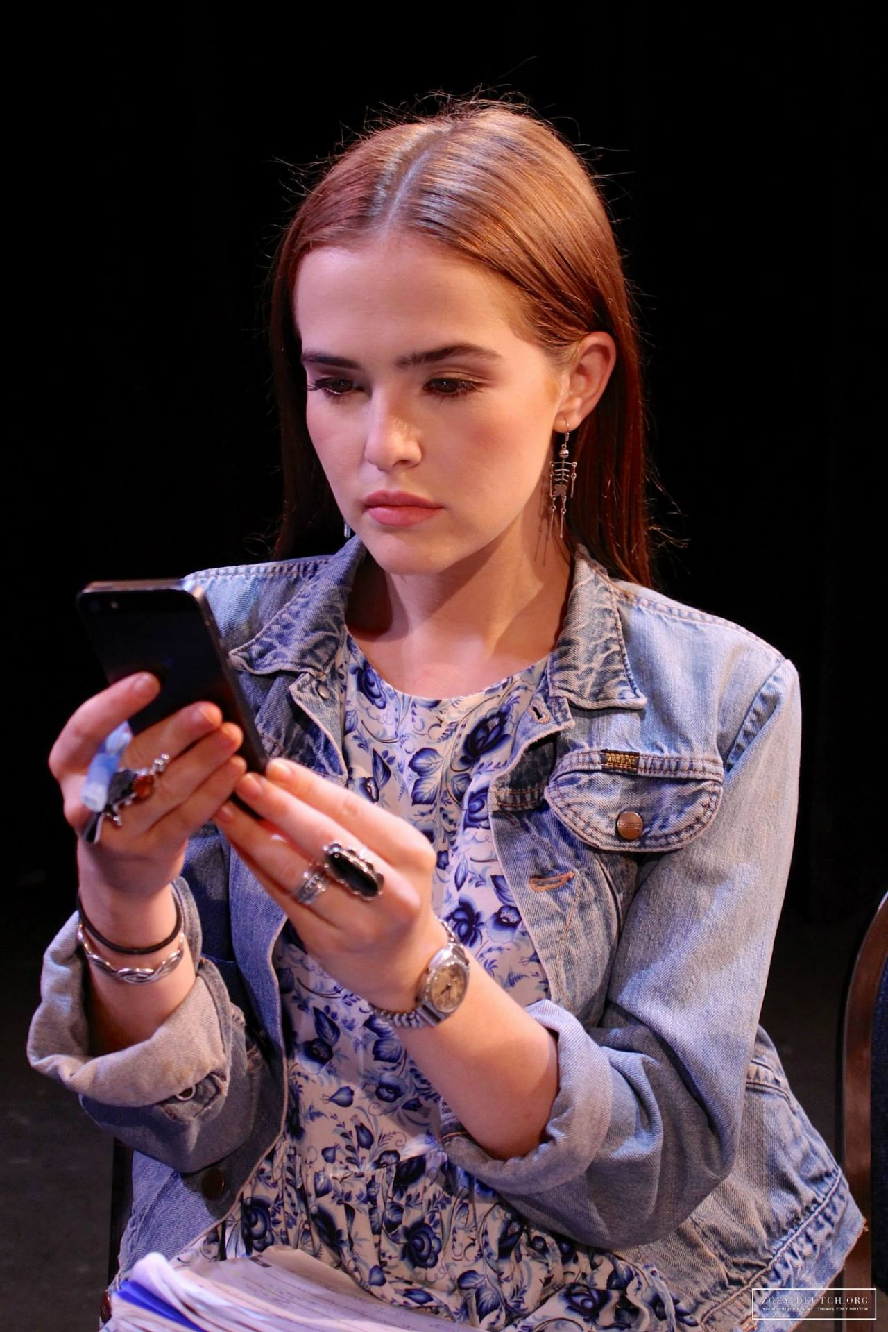 Zoey Deutch - Performing on Stage - Barophobia 2014