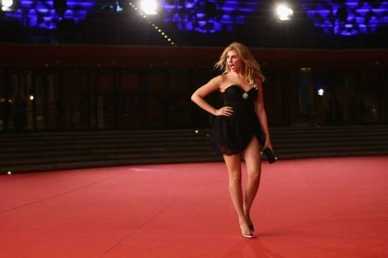 Alessia Alciati in Mini Dress on Red Carpet at Rome Film Festival 2014