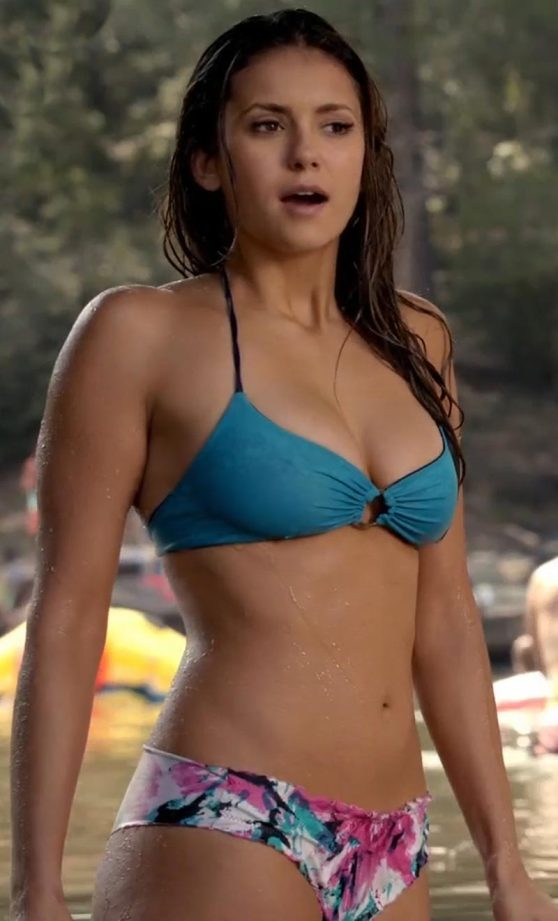 Nina Dobrev in a Bikini - 'The Vampire Diaries' Photos