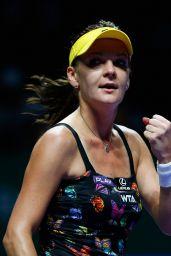 Agnieszka Radwanska – 2014 WTA Finals in Singapore (vs Petra Kvitova)