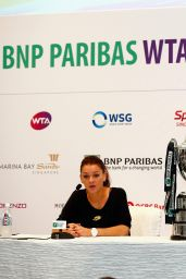 Agnieszka Radwanska – BNP Paribas WTA Finals 2014 Singapore Press Conference