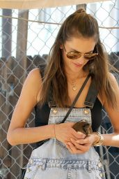 Alessandra Ambrosio at Mr. Bones Pumpkin Patch in West Hollywood - October 2014