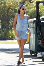 Alessandra Ambrosio Leggy - Out in Santa Monica - Oct. 2014