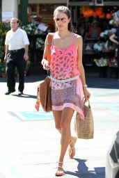 Alessandra Ambrosio Street Style - Shopping at Whole Foods in Brentwood, October 2014
