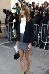 Alexa Chung - Paris Fashion Week - Chanel Show, Sept. 2014