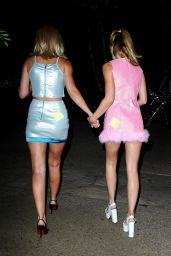 Amanda AJ Michalka & Alyson Aly Michalka - Dressed as Romy & Michele at a Halloween 2014 Party