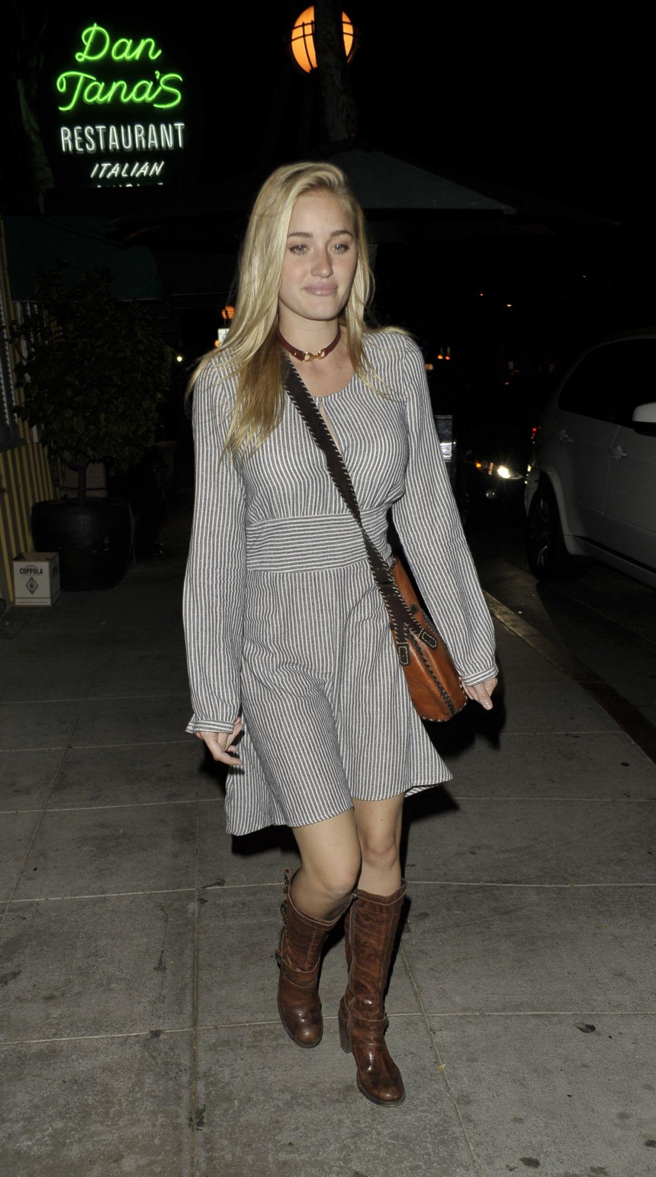 Amanda Michalka Leaving The Troubadour In West Hollywood