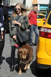 Amanda Seyfried and Her Dog Finn on the Set of