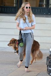 Amanda Seyfried - Out Walking Her Dog in Beverly Hills - October 2014