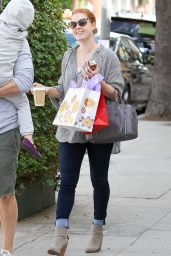 Amy Adams Street Style - Shopping in West Hollywood - October 2014