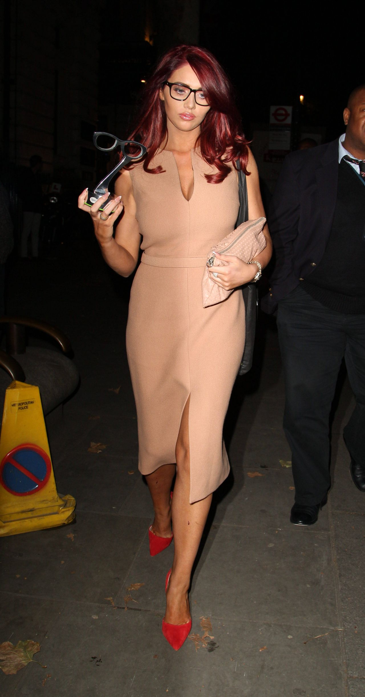 Amy Childs at Specsavers Spectacle Wearer of the Year Awards 2014
